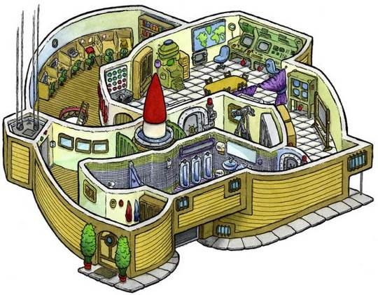 as we see in the below images, missile silos sit next to unmade beds and